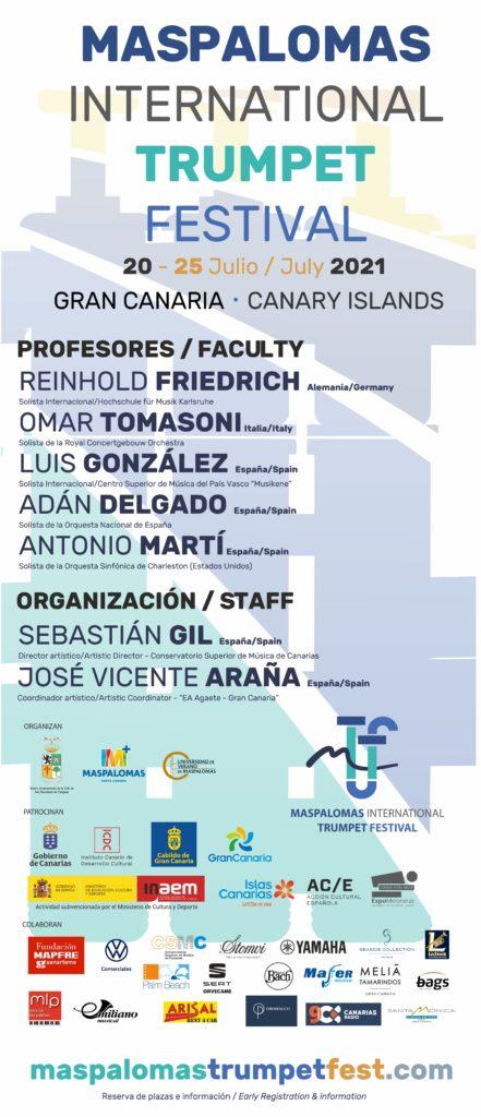 Cartel anunciador del Maspalomas International Trumpet Festival 2021